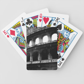 Black White Colosseum Roman Empire Bicycle Playing Cards