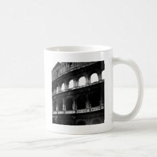 Black White Colosseum Roman Empire Coffee Mug