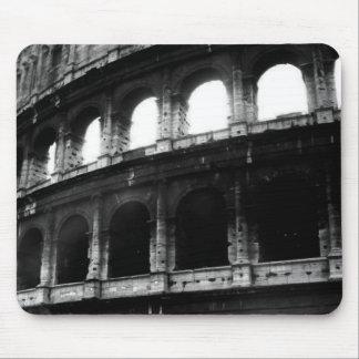 Black White Colosseum Roman Empire Mouse Pad