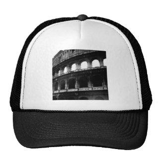 Black White Colosseum Roman Empire Trucker Hat