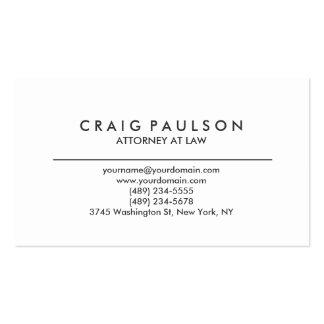 Black White Consultant Attorney Business Card