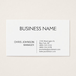 Black White Contemporary Manager Business Card