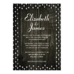 Black & White Country Wood Wedding Invitations Personalized Invites