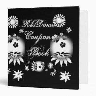 Black/White Coupon Book 3 Ring Binder