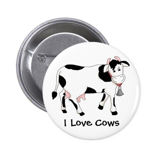 Black & White Cow Button