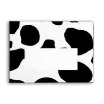 Black White Cow Print A7 Envelope