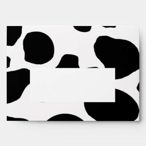 Black White Cow Print A7 Envelope