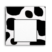 Black White Cow Print Envelope