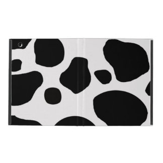 BLACK WHITE COW SPOTS ANIMAL PRINT iPad FOLIO CASE