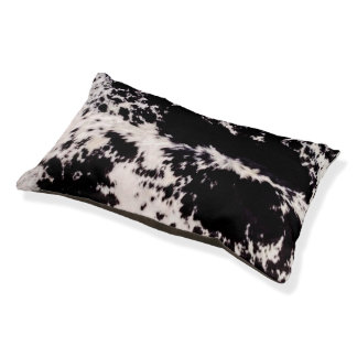Black & White Cowhide Print Dog Bed