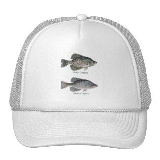 Black - White Crappie (titled) Trucker Hat