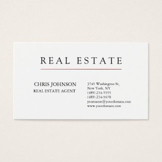 Black White Creative Chic Modern Business Card