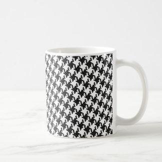 Black&white cross-stitch Houndstooth Pied-de-Poule Coffee Mug