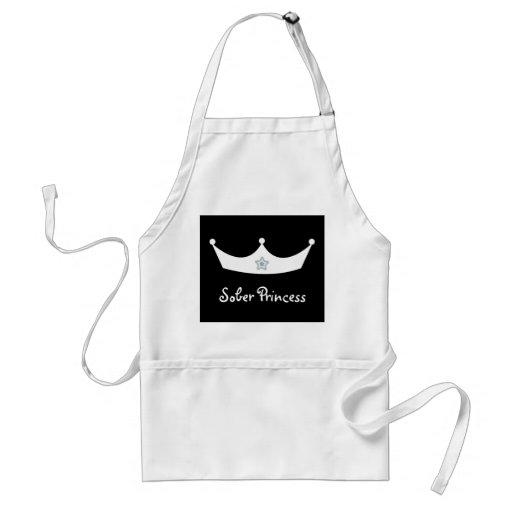 Black & white crown Sober Princess apron