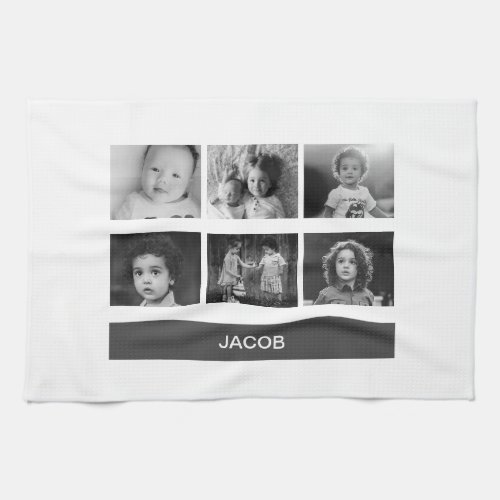 Black  White Custom Photo â Personalized Hand Towel