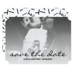 Black & White Custom Photo Save the Date Card