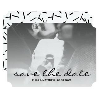Black & White Custom Photo Save the Date Card