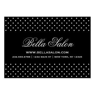 Black & White Cute Modern Polka Dots Large Business Card