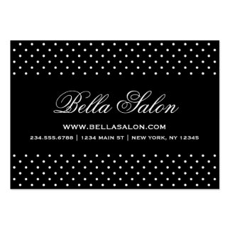 Black & White Cute Modern Polka Dots Large Business Cards (Pack Of 100)