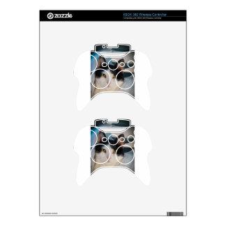 Black & White Cutie Xbox 360 Controller Skin