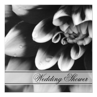 Black White Dahlia Couples Wedding Shower Invite