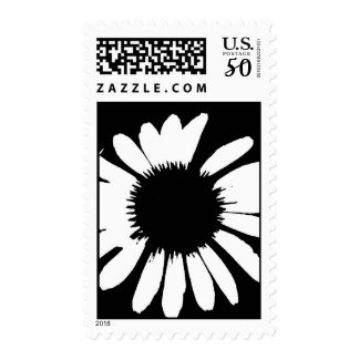 Black & White Daisy Postage