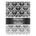 Black & white damask any occasion custom invite