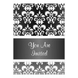 Black & white damask any occasion personalized invitations