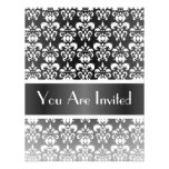 Black & white damask any occasion custom announcements