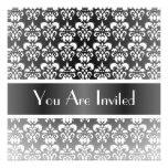 Black & white damask any occasion invitation