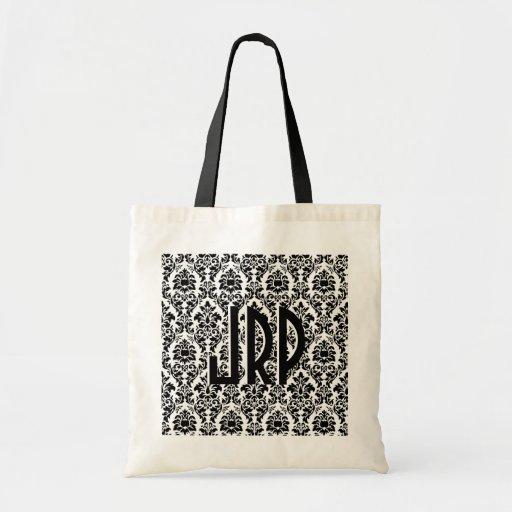 Black & White Damask Bag