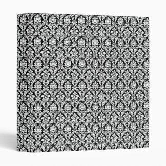 Black & White Damask Vinyl Binders