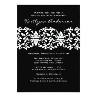 Black & White Damask Bridal Shower Invitation