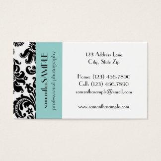Black & White Damask Business Card