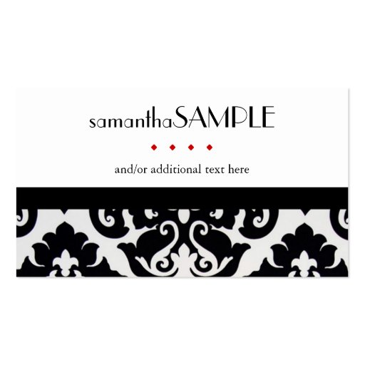 Black & White Damask Business Card Template