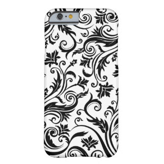 Black White Damask Barely There iPhone 6 Case