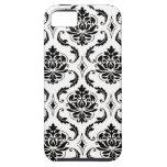Black White Damask Chic iPhone 5 Case