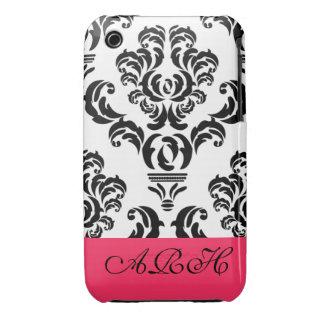 Black & White Damask iPhone 3 Case-Mate Case