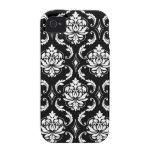 Black White Damask iPhone 4 Case-Mates