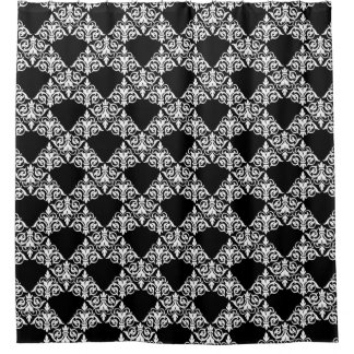 Curtains Ideas black and white damask curtains : Vintage Black And White Shower Curtains | Zazzle