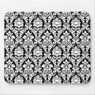 Black & White Damask Mouse Pad
