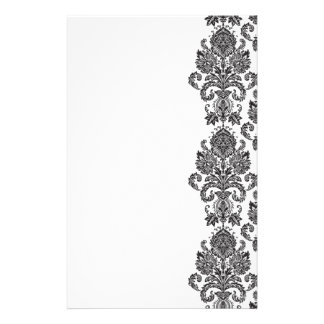 Black White Damask Stationery