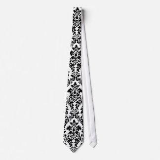 Black & White Damask Tie