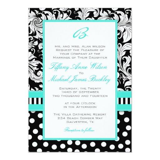 Black And Turquoise Wedding Invitations was good invitation example