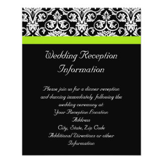 Black/White Damask w/Chartreuse Green Accent Strip Flyer