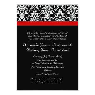 Black/White Damask w/ Ravishing Red Accent Card