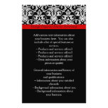 Black/White Damask w/ Ravishing Red Accent Personalized Flyer