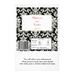 Black/White Damask Wedding Hershey's Large Wrapper Personalized Flyer