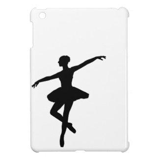 Black & White Dancing Ballerina Silhoutte iPad Mini Covers