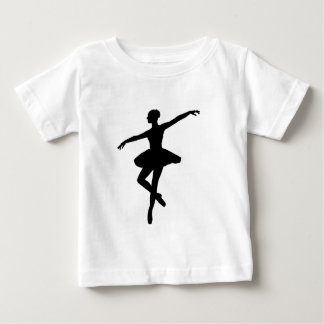 Black & White Dancing Ballerina Silhoutte Shirt
